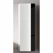 Vision 14'' Width Bathroom Linen Side Cabinet in White and Black