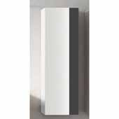 Vision 14'' Width Bathroom Linen Side Cabinet in White and Grey
