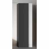 Vision 14'' Width Bathroom Linen Side Cabinet in Grey and White
