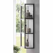 Scala 13'' Width Bathroom Linen Side Cabinet in White, Wall Mounted With Open Design