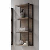 Scala 13'' Width Bathroom Linen Side Cabinet in Terra, Wall Mounted With Open Design