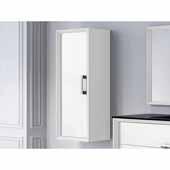 D�cor Tirador 14'' Width Bathroom Linen Side Cabinet in White