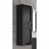 D�cor Tirador 14'' Width Bathroom Linen Side Cabinet in Black
