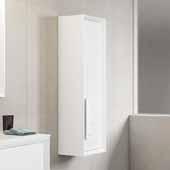D�cor Cristal 14'' Width Bathroom Linen Side Cabinet in White