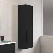 D�cor Cristal 14'' Width Bathroom Linen Side Cabinet in Black