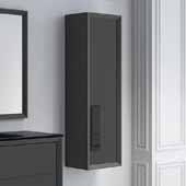 D�cor Cristal 14'' Width Bathroom Linen Side Cabinet in Grey