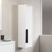 D�cor Cristal 14'' Width Bathroom Linen Side Cabinet in White and Black