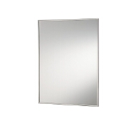 Jensen (Formerly Broan) Styleline Surface Mount 1 Door Medicine Cabinet w/ Basic White Finish, Polished Stainless Steel Frame, Steel Construction w/ 3 Adjustable Steel Shelves, 18''W x 4-3/4''D x 36-1/8''H