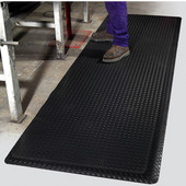 Diamond Foot Floor Mat, 3' x 75' x 9/16'', Black