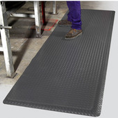 Diamond Foot Floor Mat, 3' x 10' x 9/16'', Grey