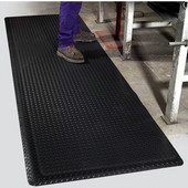 Supreme Diamond Foot Floor Mat, 2' x 3' x 11/16'', Black