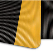 Invigorator Floor Mat, 3' x 75' x 1/2'', Black/Yellow