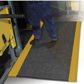 ErgoFlex Floor Mat, 4' x 60' x 1/2'', Black/Yellow
