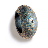 Bark, Leaves & Rocks Collection 1-3/4'' Diameter Round Rock Finger Pull in Polished Pewter, 1-3/4'' Diameter x 3/4'' D