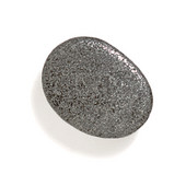 Bamboo & Stone Collection 1-1/4'' Diameter Stone 1 Oval Knob in Antique Pewter, 1-1/4'' Diameter x 5/8'' D