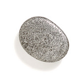 Bamboo & Stone Collection 1-1/4'' Diameter Stone 1 Oval Knob in Polished Pewter, 1-1/4'' Diameter x 5/8'' D