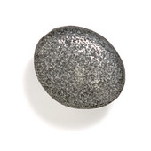 Bamboo & Stone Collection 1-3/8'' Diameter Stone 3 Oval Knob in Antique Pewter, 1-3/8'' Diameter x 7/8'' D