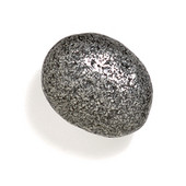 Bamboo & Stone Collection 1-1/2'' Diameter Stone 5 Oval Knob in Antique Pewter, 1-1/2'' Diameter x 1'' D