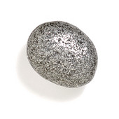 Bamboo & Stone Collection 1-1/2'' Diameter Stone 5 Oval Knob in Polished Pewter, 1-1/2'' Diameter x 1'' D
