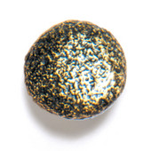 Bark, Leaves & Rocks Collection 1-1/8'' Diameter Rock 6 Round Knob in Antique Brass, 1-1/8'' Diameter x 1'' D