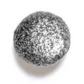 Bark, Leaves & Rocks Collection 1-1/8'' Diameter Rock 6 Round Knob in Polished Pewter, 1-1/8'' Diameter x 1'' D