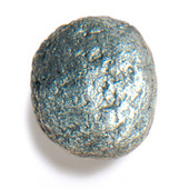 Bark, Leaves & Rocks Collection 1-1/2'' Diameter Rock 7 Round Knob in Polished Pewter, 1-1/2'' Diameter x 1'' D