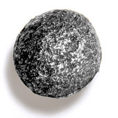 Bark, Leaves & Rocks Collection 1-3/4'' Diameter Rock 8 Round Knob in Antique Pewter, 1-3/4'' Diameter x 1-3/8'' D