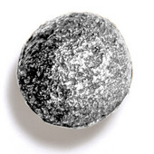 Bark, Leaves & Rocks Collection 1-3/4'' Diameter Rock 8 Round Knob in Polished Pewter, 1-3/4'' Diameter x 1-3/8'' D