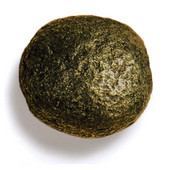 Bark, Leaves & Rocks Collection 2'' Diameter Rock 9 Round Knob in Antique Brass, 2'' Diameter x 2'' D