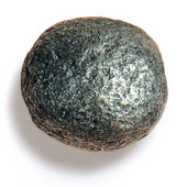 Bark, Leaves & Rocks Collection 2'' Diameter Rock 9 Round Knob in Antique Pewter, 2'' Diameter x 2'' D