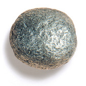 Bark, Leaves & Rocks Collection 2'' Diameter Rock 9 Round Knob in Polished Pewter, 2'' Diameter x 2'' D