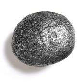 Bark, Leaves & Rocks Collection 2-1/2'' Diameter Rock 10 Oval Knob in Antique Pewter, 2-1/2'' Diameter x 2'' D