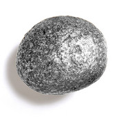 Bark, Leaves & Rocks Collection 2-1/2'' Diameter Rock 10 Oval Knob in Polished Pewter, 2-1/2'' Diameter x 2'' D