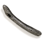 Bamboo & Stone Collection 8'' W Driftwood Pull in Antique Pewter, 8'' W x 1-1/2'' D