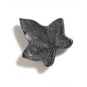 Pinecones & Jasmine Collection 1-3/4'' W Ivy Knob in Antique Pewter, 1-3/4'' W x 1-1/4'' D