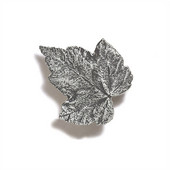 Pinecones & Jasmine Collection 1-3/4'' W Silver Maple Knob in Polished Pewter, 1-3/4'' W x 3/4'' D