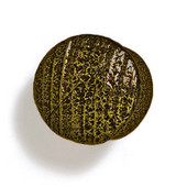 Bark, Leaves & Rocks Collection 1'' Diameter Round Small Shaker Knob in Antique Brass, 1'' Diameter x 7/8'' D