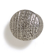 Bark, Leaves & Rocks Collection 1'' Diameter Round Small Shaker Knob in Polished Pewter, 1'' Diameter x 7/8'' D