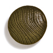 Bark, Leaves & Rocks Collection 1-7/8'' Diameter Round Large Shaker Knob in Antique Brass, 1-7/8'' Diameter x 3/4'' D