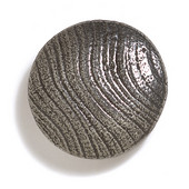 Bark, Leaves & Rocks Collection 1-7/8'' Diameter Round Large Shaker Knob in Antique Pewter, 1-7/8'' Diameter x 3/4'' D