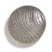 Bark, Leaves & Rocks Collection 1-7/8'' Diameter Round Large Shaker Knob in Polished Pewter, 1-7/8'' Diameter x 3/4'' D