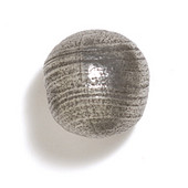 Bark, Leaves & Rocks Collection 1-1/8'' Diameter Round Ball Knob in Polished Pewter, 1-1/8'' Diameter x 1-1/8'' D