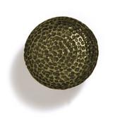 Bark, Leaves & Rocks Collection 1-1/4'' Diameter Round Hammered Knob in Antique Brass, 1-1/4'' Diameter x 1-1/4'' D