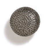 Bark, Leaves & Rocks Collection 1-1/4'' Diameter Round Hammered Knob in Antique Pewter, 1-1/4'' Diameter x 1-1/4'' D