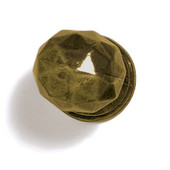 Bark, Leaves & Rocks Collection 1-3/8'' Diameter Round Small Faceted Knob in Antique Brass, 1-3/8'' Diameter x 1-3/8'' D