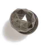 Bark, Leaves & Rocks Collection 1-3/8'' Diameter Round Small Faceted Knob in Antique Pewter, 1-3/8'' Diameter x 1-3/8'' D