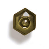 Bark, Leaves & Rocks Collection 1-1/4'' W Small Antique Knob in Antique Brass, 1-1/4'' W x 1-1/8'' D