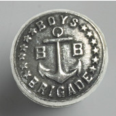 Blocks & Ropes Collection 7/8'' Diameter Round Boys Brigade Knob in Polished Pewter, 7/8'' Diameter x 3/4'' D