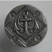Blocks & Ropes Collection 1'' Diameter Round Anchor Knob in Antique Pewter, 1'' Diameter x 3/4'' D