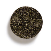Bark, Leaves & Rocks Collection 1-7/8'' Diameter Round Bark Knob in Antique Brass, 1-7/8'' Diameter x 3/4'' D